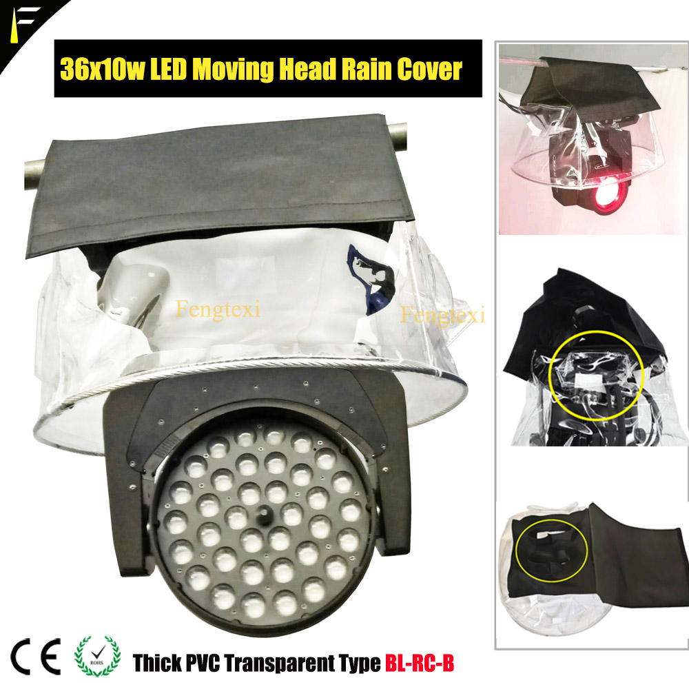 Transparent PVC Coat For 36*10w 108x3w LED Moving Light Rain Cover 200W230W350W Beam Head Outdoor Rain Snow Covering Overlay