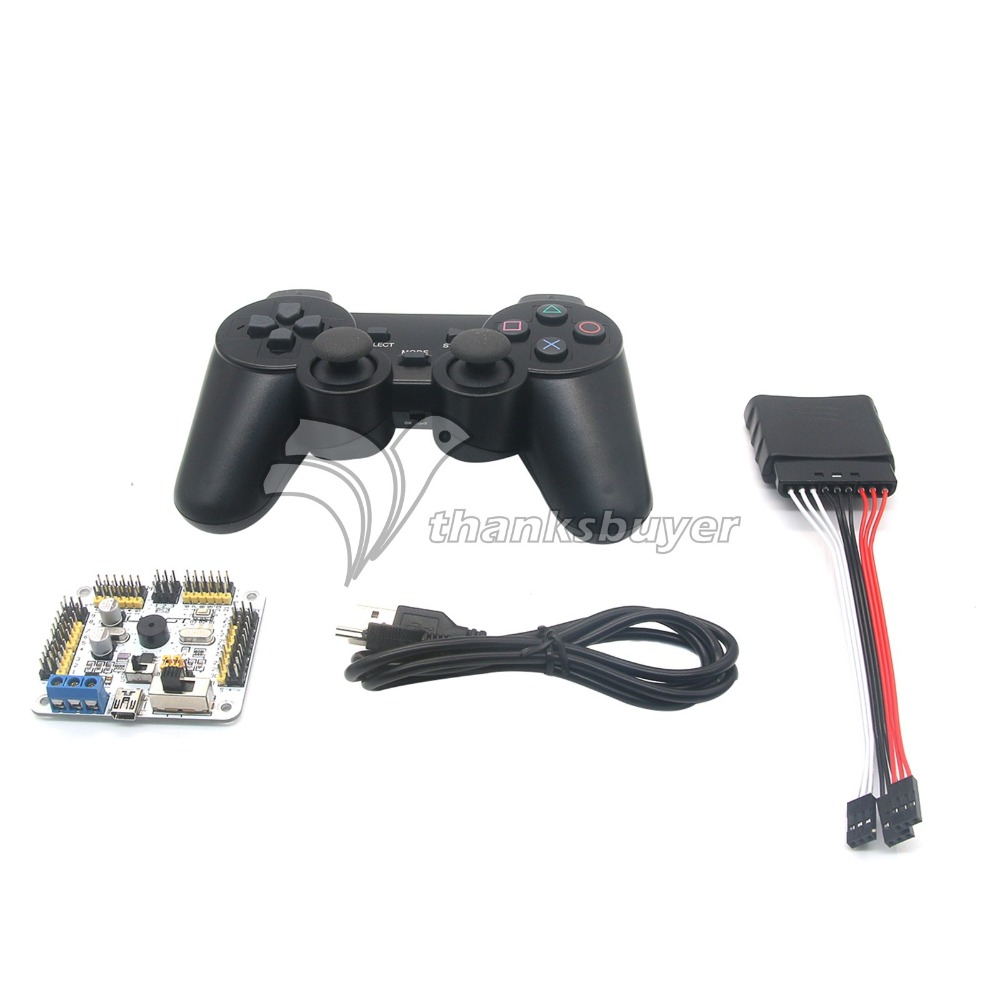 Servo Controller Driver Board 32 Channels with PS2 Handle for Robot Mechanical Arm DIY craylorvans top quality 8 10 12cm women pumps new fashion leopard color pointed toe high heel wedding shoes ultra thin high heel