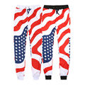 ISTider Hombres Mujeres Basculador Pantalones Bandera Americana Impresa Harem Unisex Invierno Joggers Pantalones Pantalones deportivos Pantalones de Chándal Homme