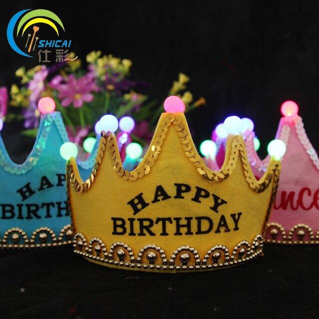 Crown luminous birthday wedding party event birthday party dress ...