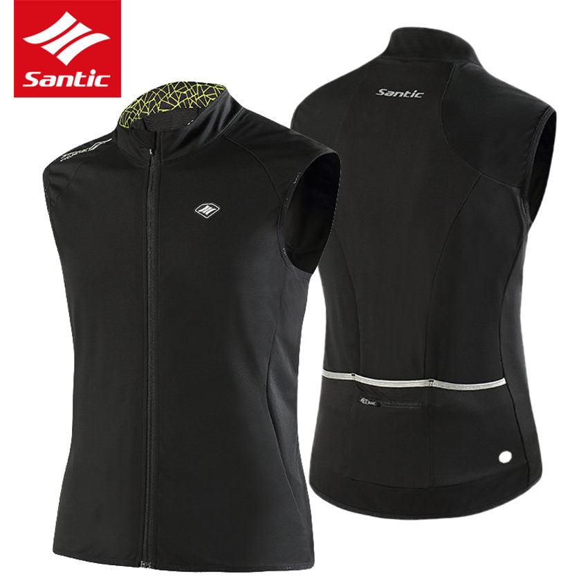 Santic Autumn Cycling Jacket Men Jersey Sleeveless Windproof MTB Road Bike Jacket Vest Bicycle Clothing Maillot Ciclismo 2017 santic bike bicycle windproof full long sleeve jersey mtb ciclismo cycling outdoor sport breathable quick dry jerseys clothing