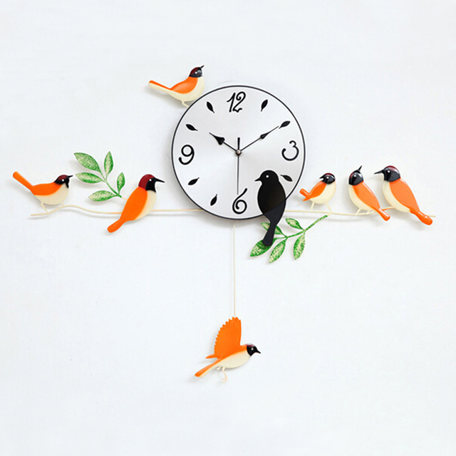 pretty design bird home decor. bird wall clock 2016 home decoration decor single clocks  painting watch morden design birds