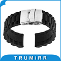 17mm 18mm 19mm 20mm 21mm 22mm caucho de silicona watch band para weekender timex expedition mujeres de los hombres de pulsera correa de pulsera de la correa