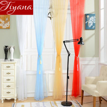 Solid Pure Sheer Curtains Voile Window Modern Simple Living Room Bedroom Balcony Kitchen Curtains Tulle Custom Made T&214 #20