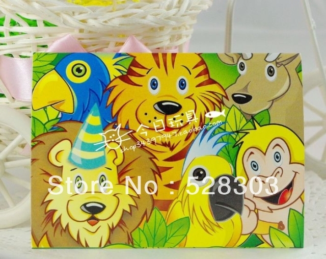 Free shippingchild birthday party suppliescute cartoon animalzoo free shippingchild birthday party suppliescute cartoon animalzoo birthday party paper stopboris Image collections