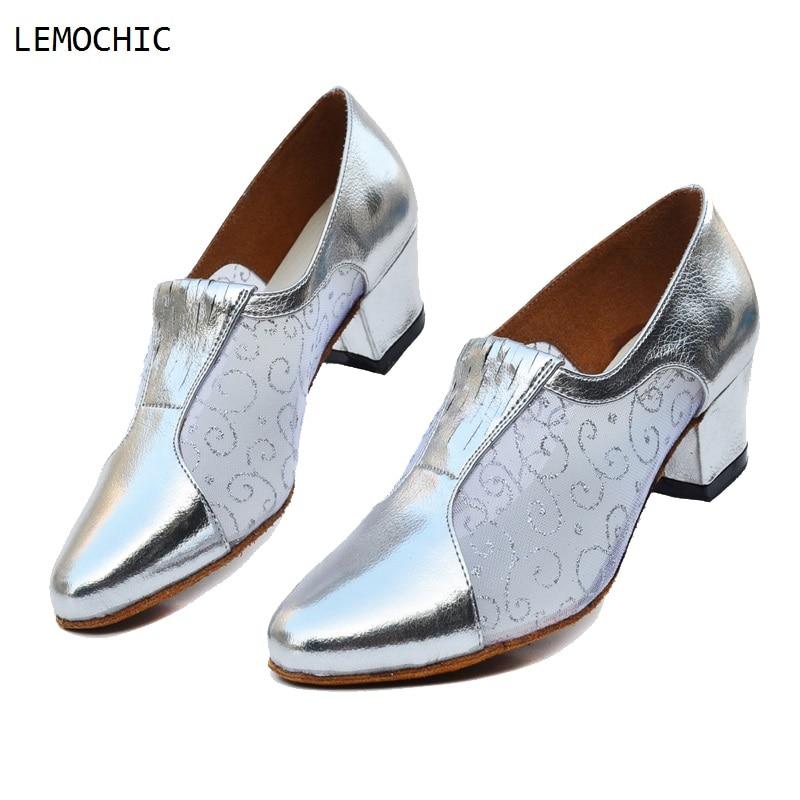 LEMOCHIC models professional cha cha latin tango ballroom rumba samba salsa flamenco low heels pointe dancing shoes best sale