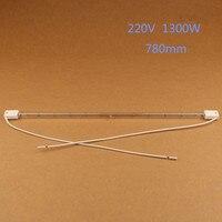 infrared heating tube, IR light, transparent quartz pipe,vacuum halogen element 780mm 220V 1300W