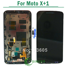 Touch Screen LCD For Moto X+1 X2 XT1092 XT1095 XT1097 Digitizer Display With Frame&With Metal Frame For Moto X+1 LCD Free Ship