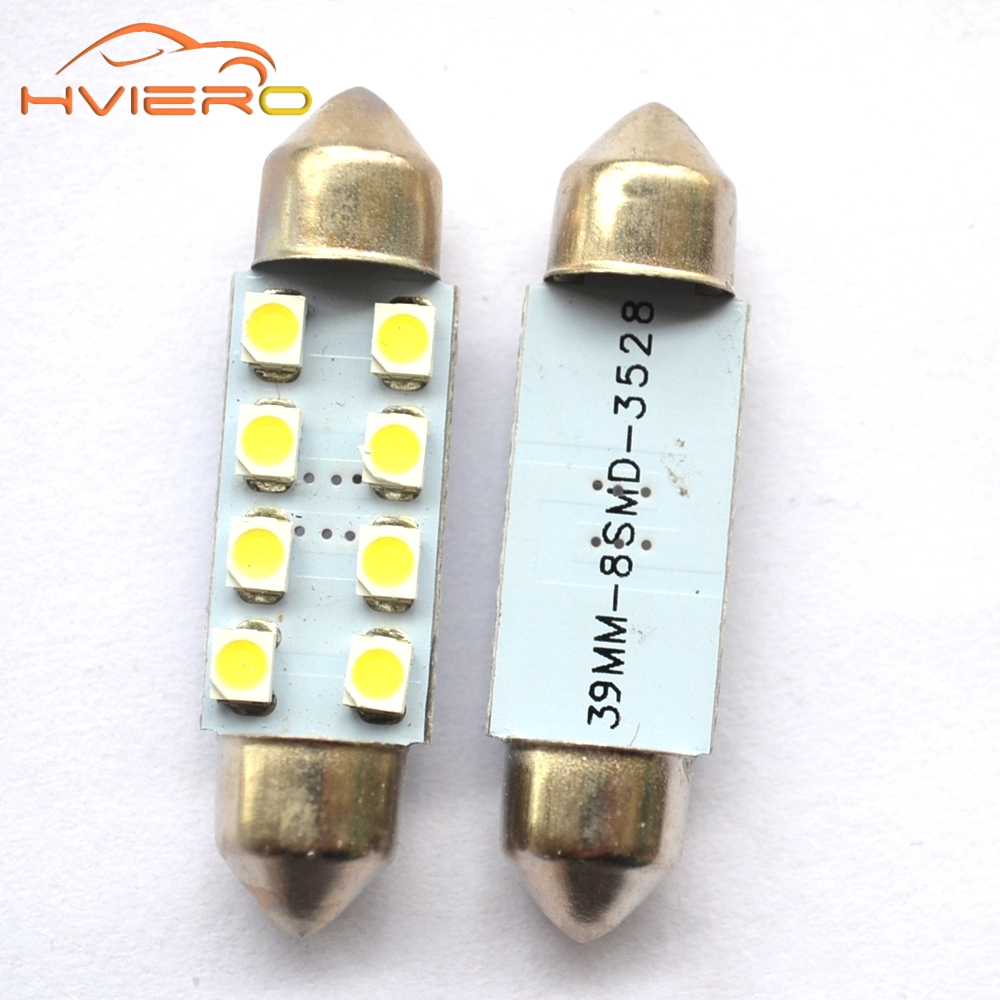 10Pcs 31mm 36mm 39mm 41mm White Car Light C5W 8LED 3528 1210 8 SMD Festoon Dome Lamp Bulb DC 12V Reading Decorating Lights 1pcs 31mm 36mm 39mm 41mm white 3528 1210 car light 8smd 8 led c5w festoon dome lamp bulb dc 12v festoon dome car light bulb