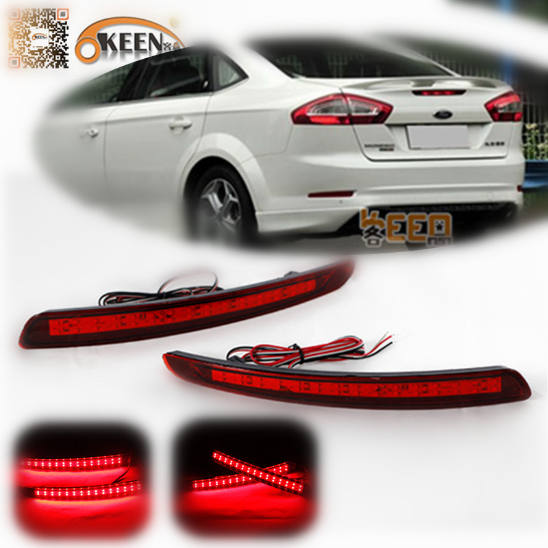okeen lens led rear bumper reflector light for ford mondeo fusion 2011 2012 night driving stop. Black Bedroom Furniture Sets. Home Design Ideas