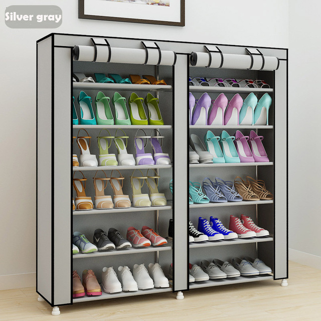 Large Shoe Cabinet 10 Layer 9 Grid Non Woven Fabrics Rack Organizer