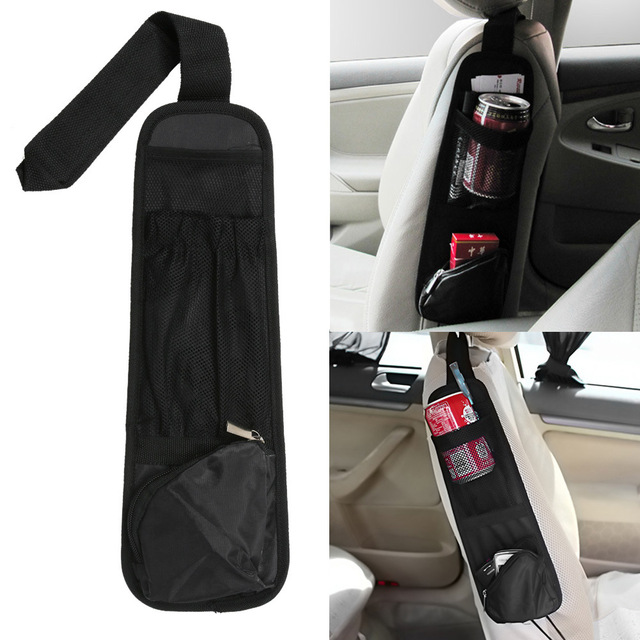 Car Hanging Storage Bag Car Organizer Auto Vehicle Seat Side Bag Pocket Bags Sundries Holder Nylon 37*12cm Black все цены