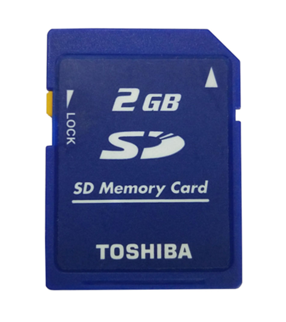 Toshiba 2GB Class2 SD-M02G SD Card Standard Secure SD Memory Card for Digital Cameras and Camcorders Lock Memoria SD