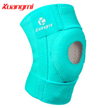 лучшая цена Kuangmi 1PCS Knee Brace Support Open Patella Stabilizer Protector Kneepad Sleeve Safety Guard Strap for Arthritis Meniscus Tear