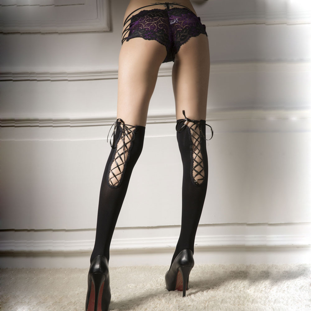 High Quality Sexy Stocking Smooth Lace Bow Thigh High Stockings Over The Knee For Women