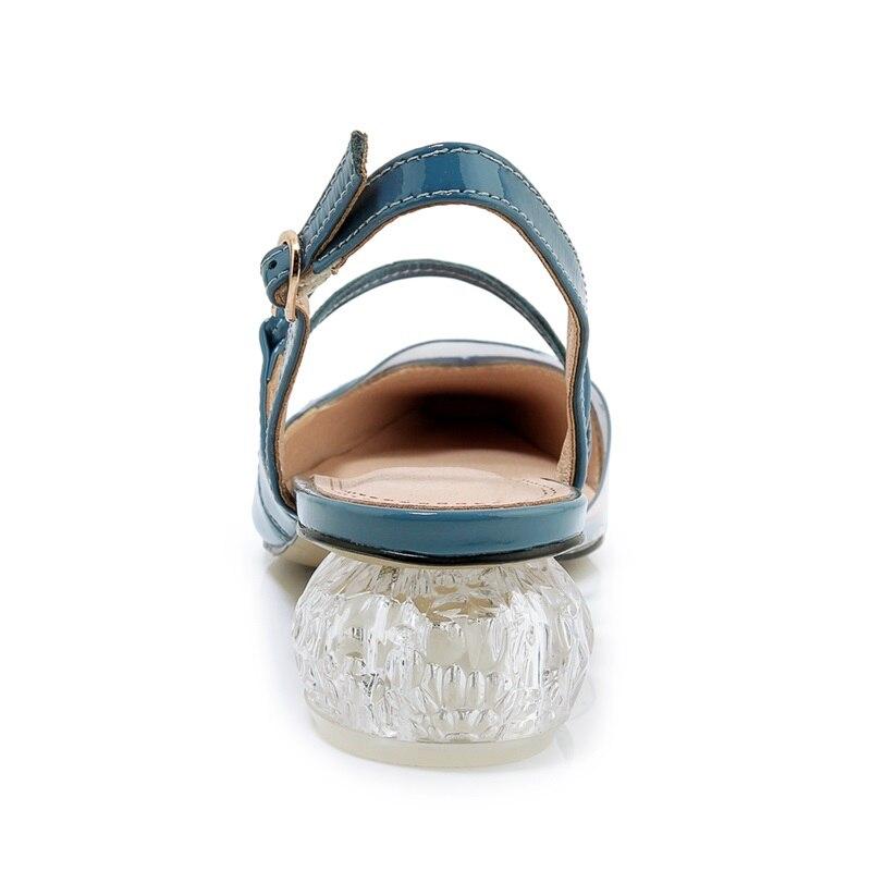 Verni Zvq Femmes En Trois Cuir Dames Chaussures Femme Date L'extérieur Med Orgelet Strage Sandales À 2019 Black Tendance white Summer Boucle Couleurs blue wPrSzqnw