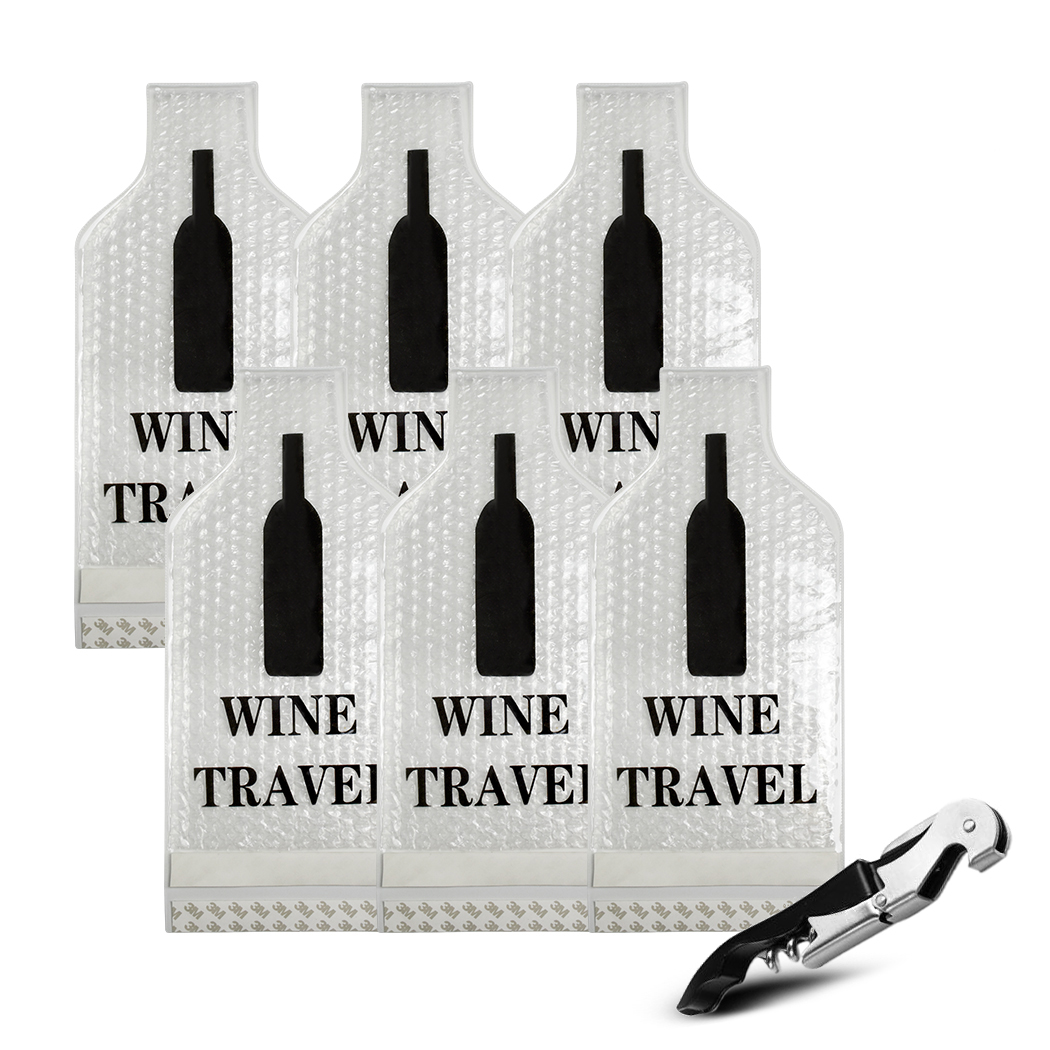 Wine Bottle Protector - Portable Safe Transport Leakproof Travel Wine Bags With Wine Opener