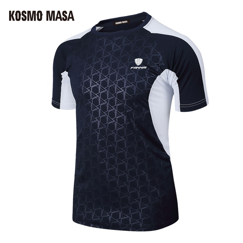 KOSMO MASA 2017 Spring Summer Men's Short Sleeve T-shirt Quick Dry Breathable Fitness Hip Hop T-shirts Men Jersey T Shirt MC0279