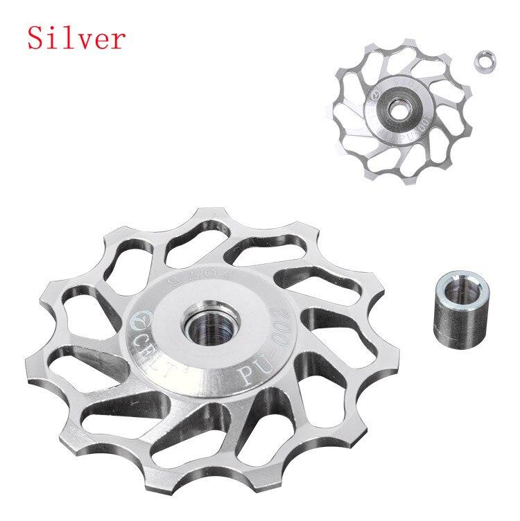 11T CNC Aluminum Alloy Wheel for Shimano & Sram XX, XO, X9, X7 Rear Mech Derailleur, Ceramic Bearing CCD002