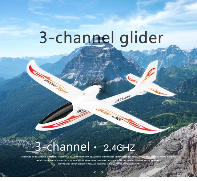 WLtoys F959 2.4G Radio Control 3 Channel RC Airplane Fixed Wing RTF SKY-King Aircraft  Foldable Propeller Outdoor Drone Toy
