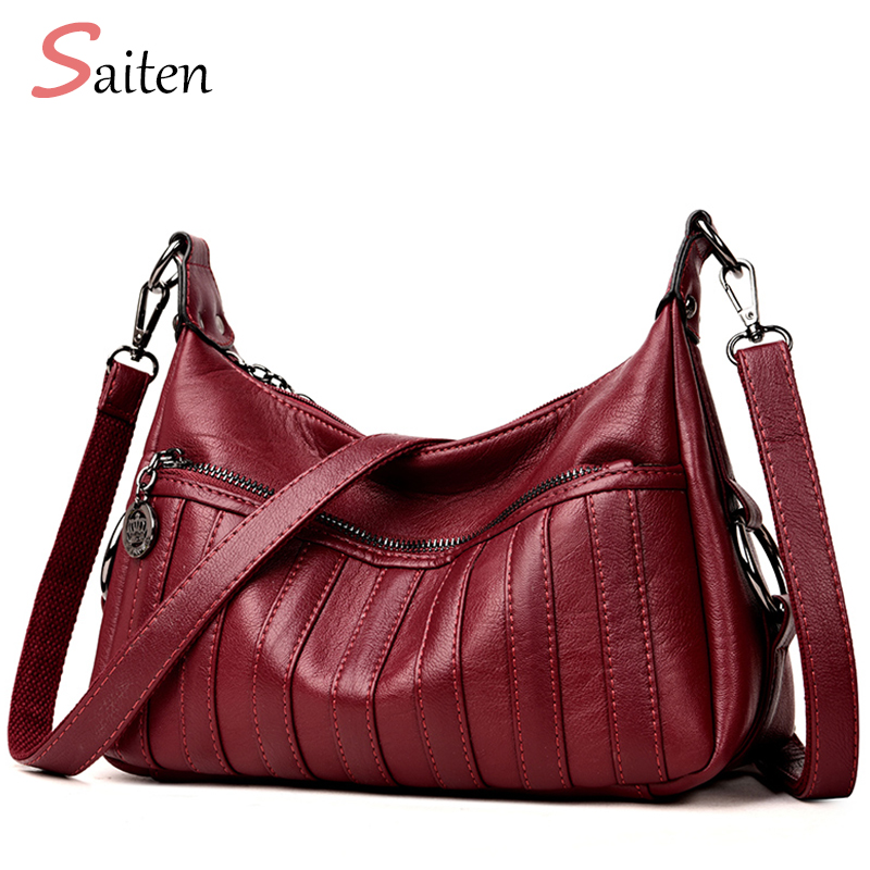 Saiten New Fashion Leather Women Handbag Casual Women Hobos Shape Bags luxurious PU Female Shoulder Bag Fresh Lady Style Bag e lov fashion luminous constellation canvas shoes low top sagittarius horoscope graffiti casual walking shoes for women