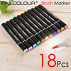 Finecolour 18 P Brush Marker Pen EF102 Soft Tip Cartoon Sketch Designer Graffiti Paint Optional Skin