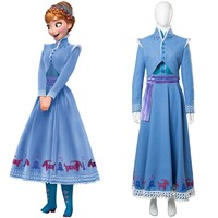 Olaf's Adventure Anna Cosplay Costume Adult Women Anna Fancy Dress Outfit Cosplay Costume Halloween Costume