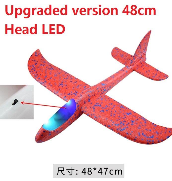 Avion en mousse EPP à inertie, jouet, modèle d'avion, amusant à l'extérieur, avec lancement à la main en LED, grande qualité, 48cm 3