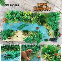 2 pçs/lote 32 × 32 pontos Selva minifig bloco de construção placa de base compatível com conhecida marca brinquedos para as crianças do meu mundo figuras
