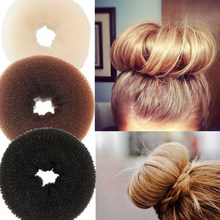 New Plate Hair Donut Bun Maker Magic Foam Sponge Hair Stylin