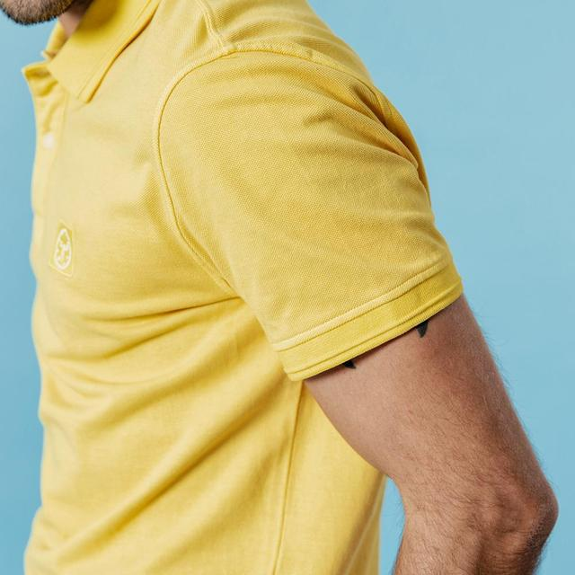 Classic polo shirt in yellow
