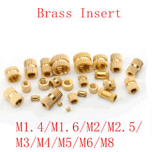 M6 M8 Nuts Insert-Nut Injection-Molding-Brass Knurled-Thread M4 M5 M3 M2.5 50pcs/20pcs
