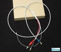 Iwistao LP Поворотные столы тонарм сигнальный кабель 5 Булавки DIN разъем посеребренная OFC Провода подключения для винила Hi Fi аудио 1.5 м