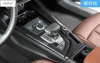LAPETUS Center Control Stalls Gear Shift Box Cover Kit Trim Fit For Audi A5 A4 B9 2016 2019 Accessories Carbon Fiber Look