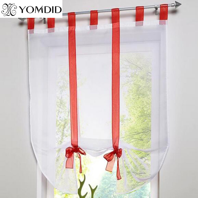 7 Colors European Style Ribbon Curtain Roman Wave Curtains For Living Room  Cofe Up And Down Pulling Curtain For Window Balcony