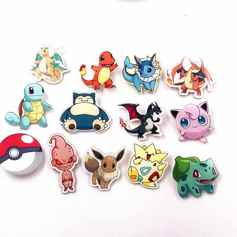 1 pçs dos desenhos animados japoneses anime pokemon emblemas snorlax acrílico broche pino 3-5 cm memórias da infância diy jóias surpresa presente