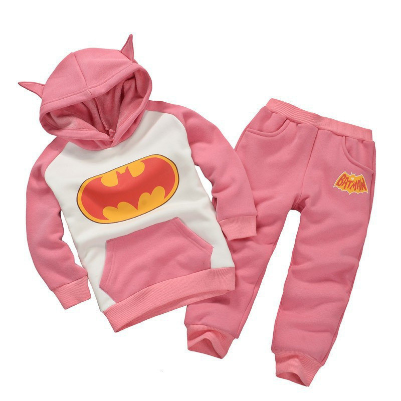 c2ca0f39a KEAIYOUHUO Toddler Boys Clothing Set 2017 Winter Girls Clothes Batman  Hoodies+Pant Kids Sport Suit For Boys Children Clothes Set-in Clothing Sets  from ...
