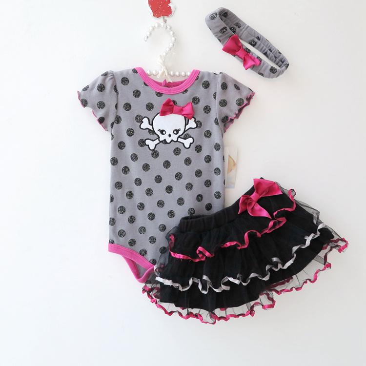 2016 baby Girls Summer clothing Sets Baby girl romper Suits Romper+Tutu Skirt+Headband Infant newborn baby clothes baby romper 2016 princess newborn baby girl clothes infant body suits floral romper