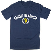 Satoshi Nakamoto T-Shirt - BTC Bitcoin Cryptocurrency Blockchain 6 colours New T Shirts Funny Tops Tee Unisex