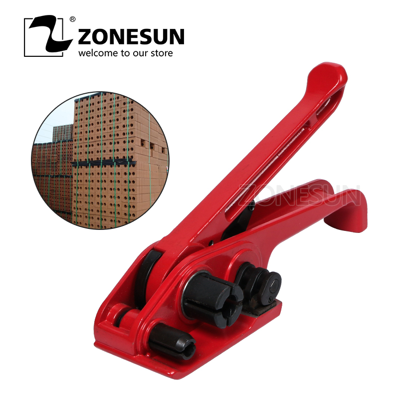 ZONESUN  Hand Strapping Tools For Polyester Strip  Manual Strapping Tensioner For 19MM PP/PET Strap