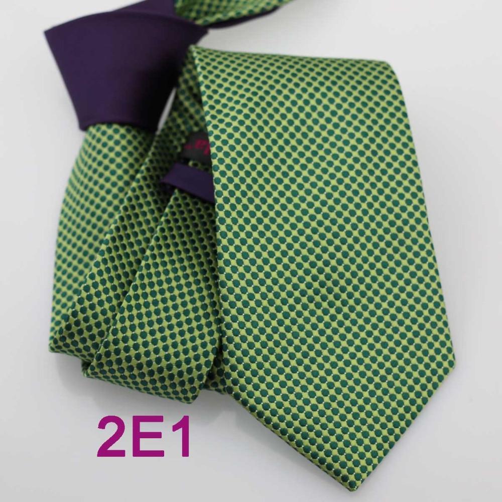 Coachella Для мужчин галстуки новинка дизайн Фиолетовый Узел зеленые пятна точки жаккардовые Средства ухода за кожей шеи галстук пользовательские связи галстук Официальное Средства ухода за кожей Шеи Галстук для мужчин