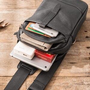 Image 2 - AETOO sacs à bandoulière en cuir véritable pour hommes, sacoche décontracté, petite marque, sac à épaule de styliste masculin, sac de poitrine