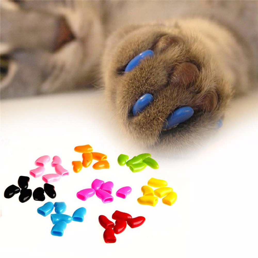 1 Pack Colorful Soft Non Toxic Pet Cat Claw Covers Dog Paws Nail ...