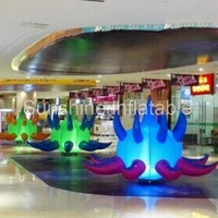 Latest 2m giant led lighting inflatable ground balloon with base blower for for event festival party decoration