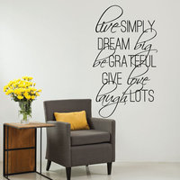 Live Sample Quotes Wall Stickers Lettering Vinyl Wall Decal Mural Home Decor Art Home Decoration