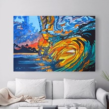ФОТО Abstract Hawaii Surf Artwork Canvas Art Print Painting Poster Wall Pictures  Living Room Decor Home Decorative No Frame