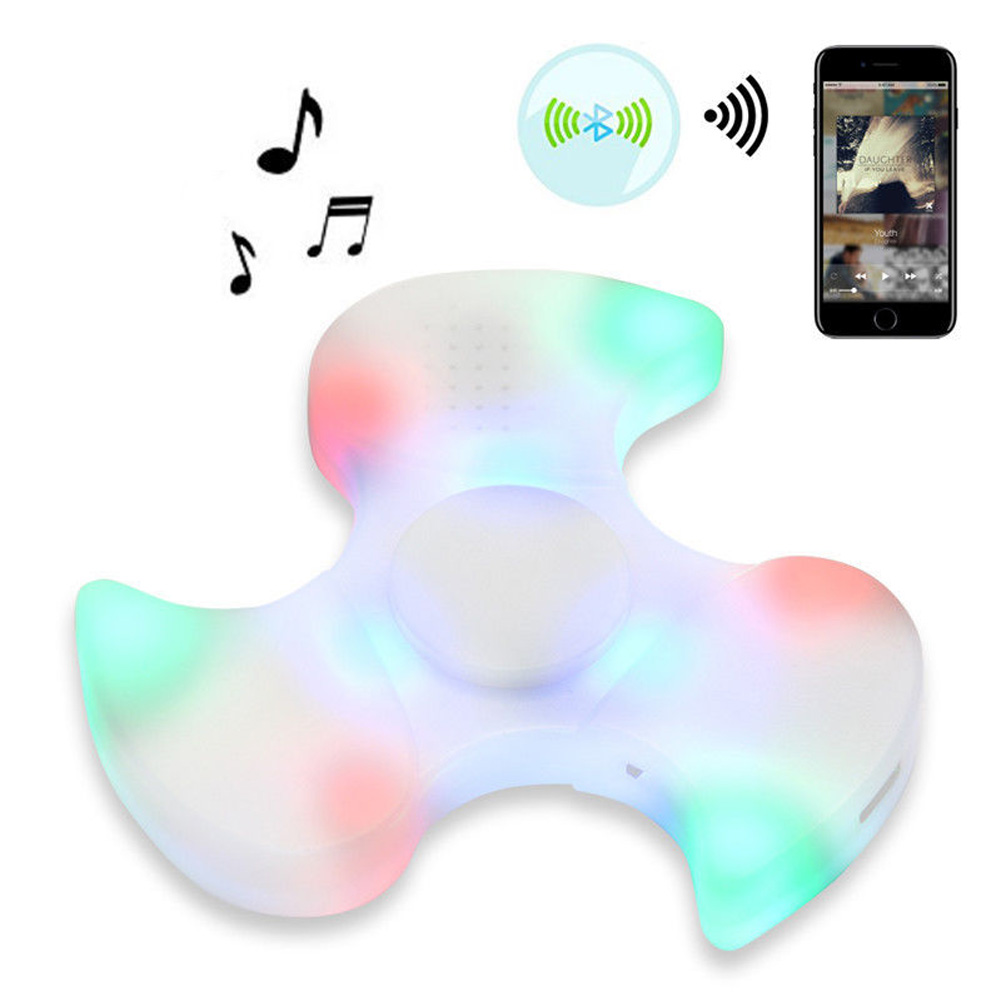 Динамик Bluetooth LED Музыка Непоседа пальца гироскопа игрушка Непоседа ручной Spinner забавные игрушки спинер
