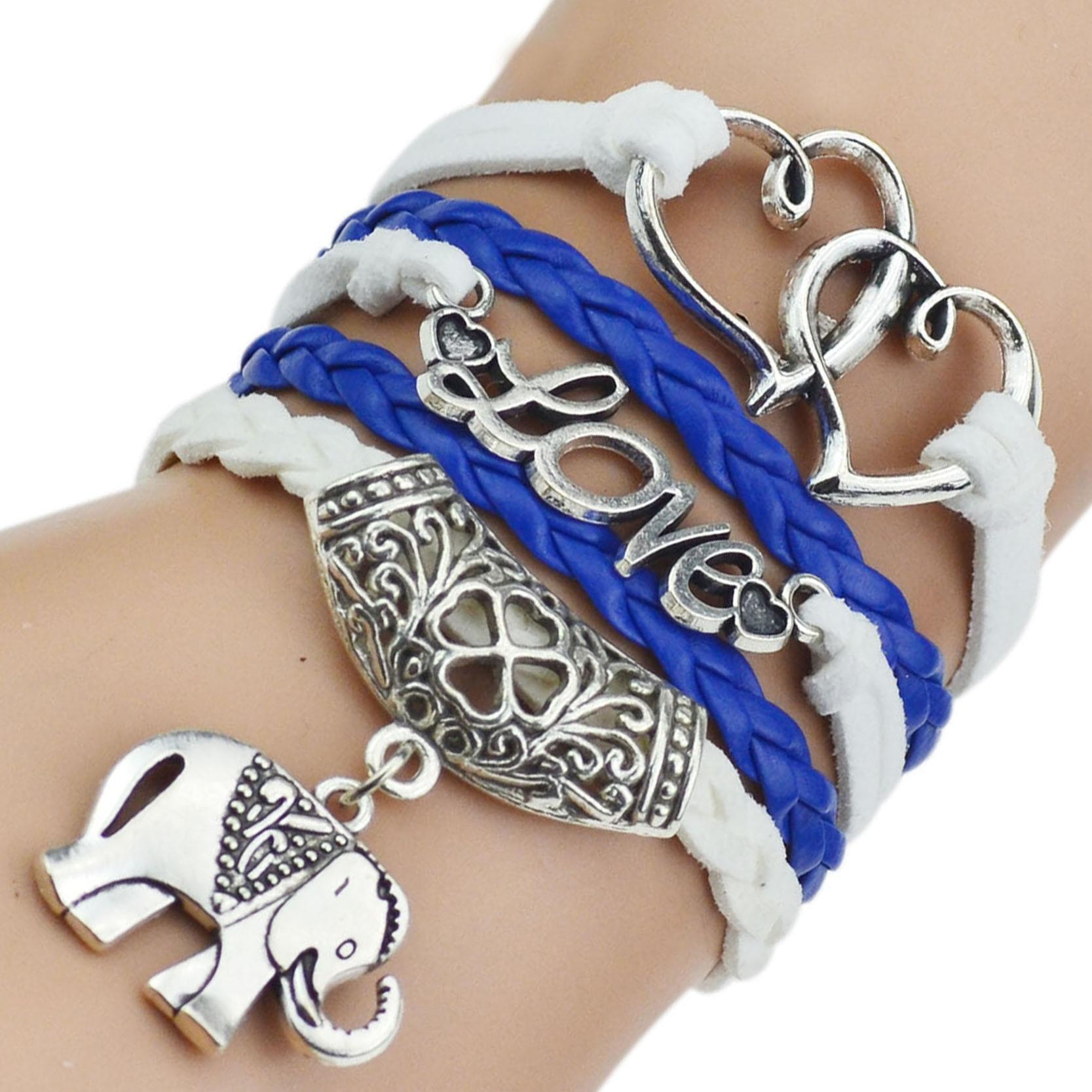 7 Colors 2017 New Fashion Leather Bracelets & Bangles Silver Owl Tree Love Bracelets for Women Men Hot Sale Fashion Jewelry 3