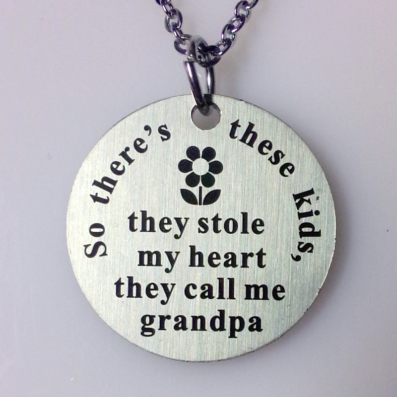 10pcs/lot New Design they calls me grandfather charm pendant necklace