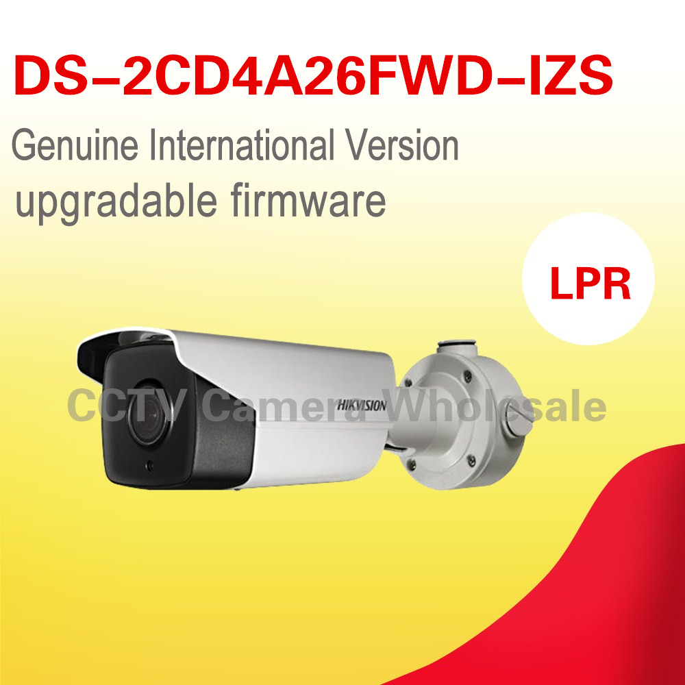 Free shipping English version DS-2CD4A26FWD-IZS 2MP Low Light Smart IP cctv Camera Support 128G recording POE LPR camera